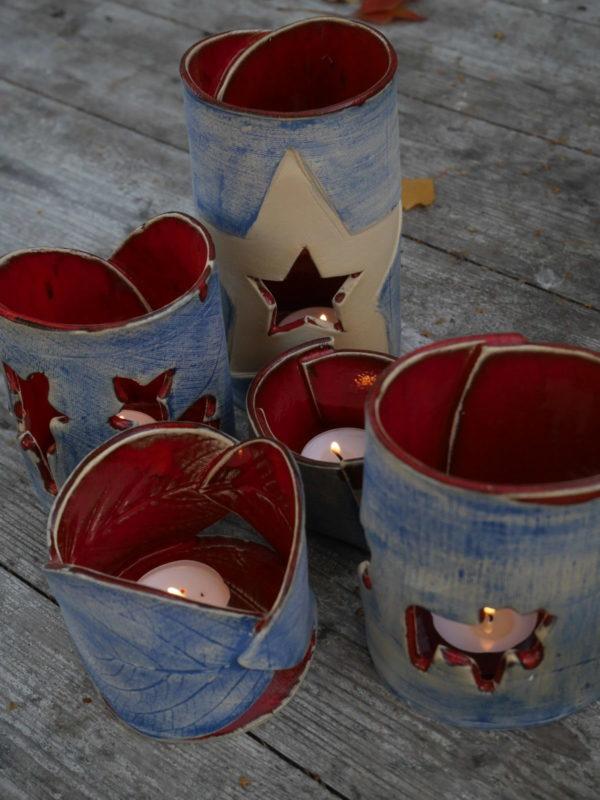 Teelichhalter aus Keramik