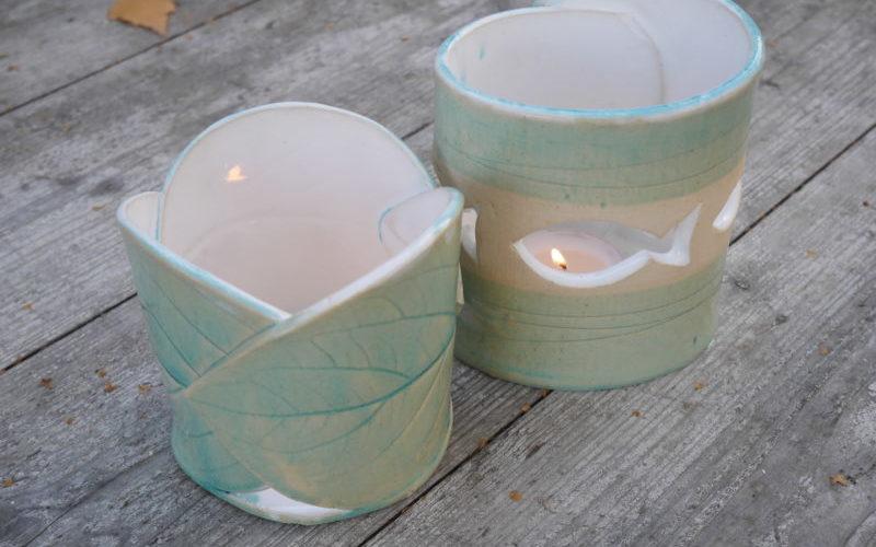 Teelichhalter aus Keramik - Licht
