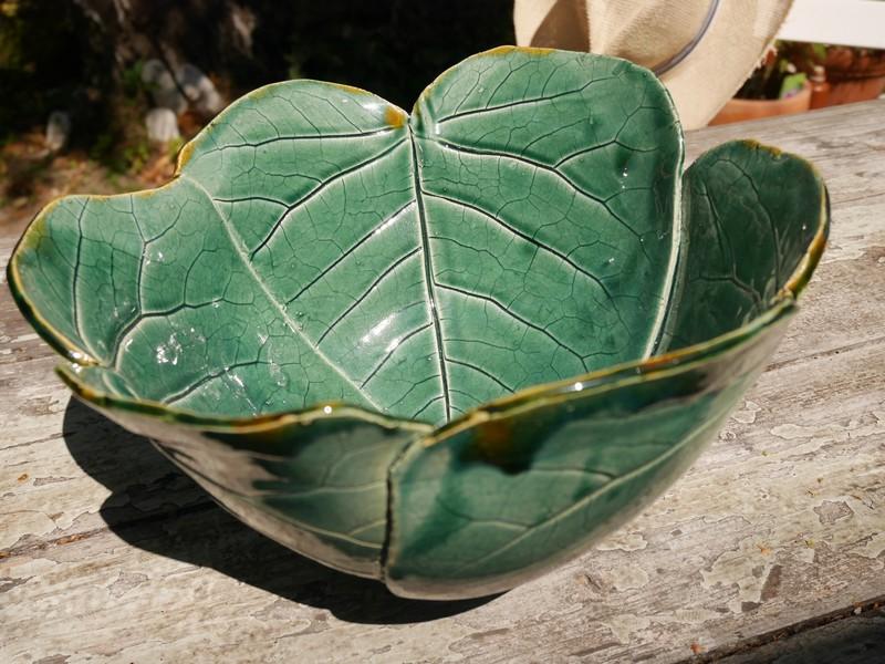 "Keramikschalen aus abgeformten Blättern - Serie ""Organic Bowls"""