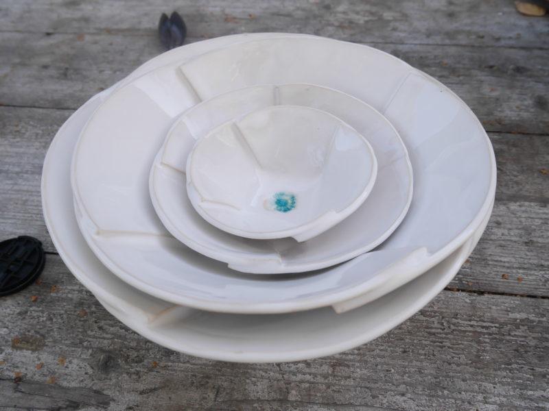 Keramiktellerset weiss